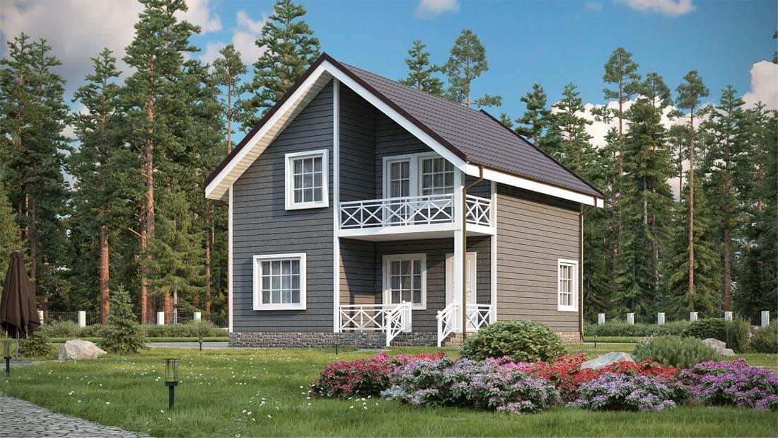 Каркасный дом 9 на 9 фото