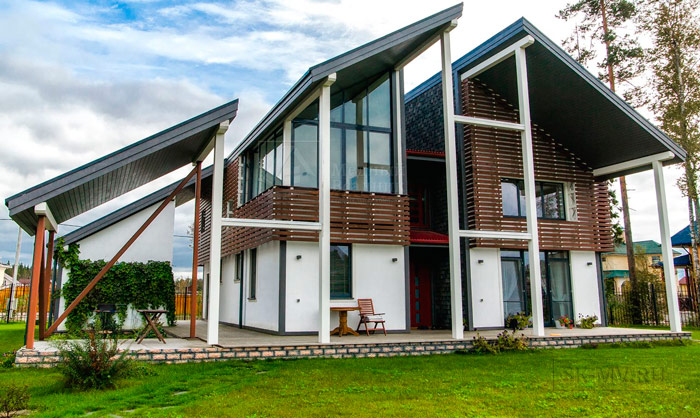 современный каркасный дом