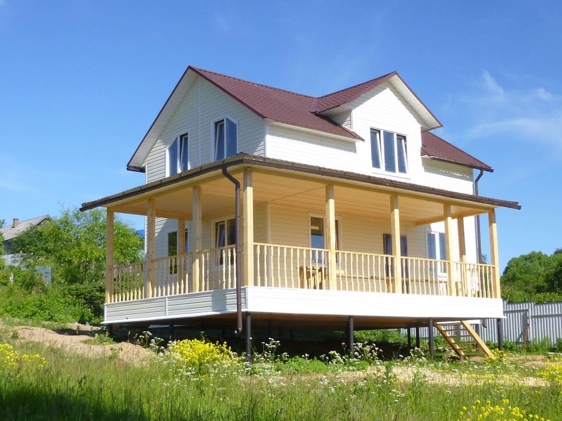 Каркасный дом 6 на 9 двухэтажный фото