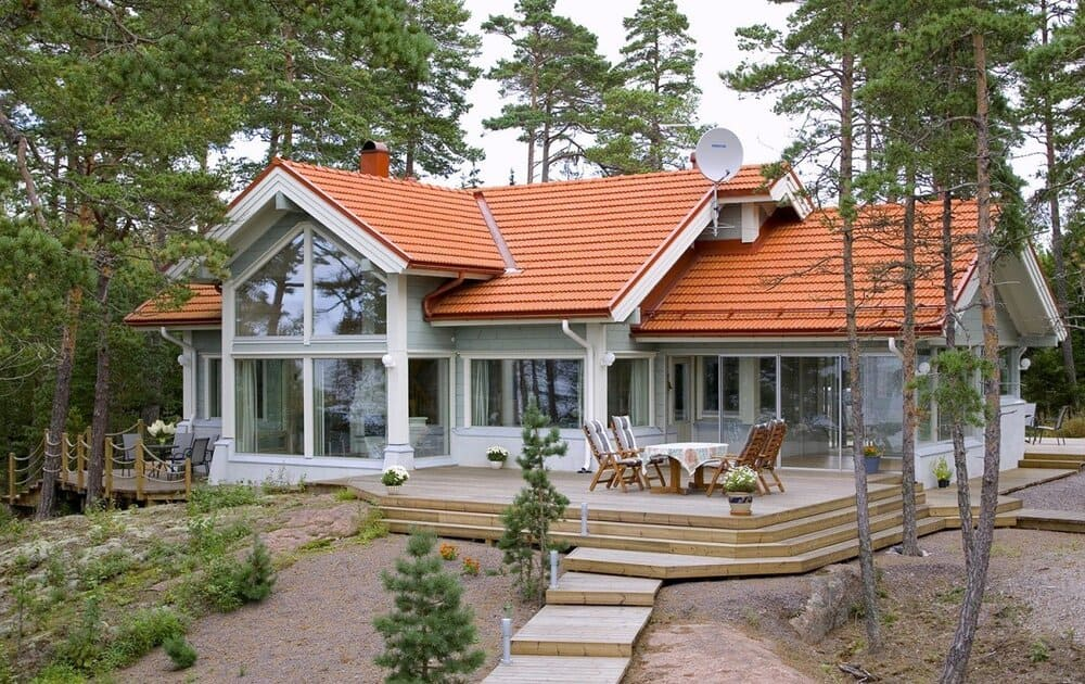 Каркасный дом со вторым светом фото