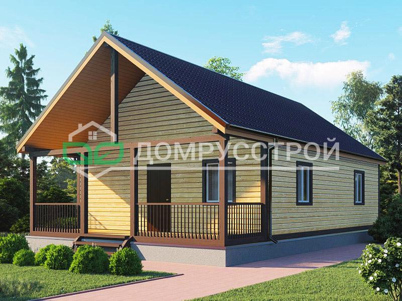 Каркасный дом Д107 12x8