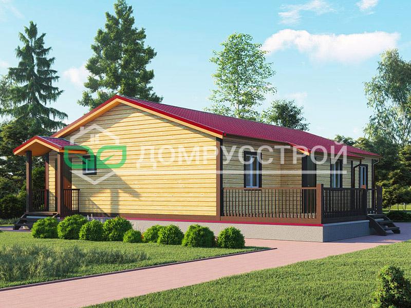Каркасный дом Д108 13,5x12