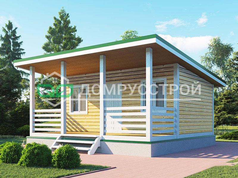 Каркасный дом Д117 6x6