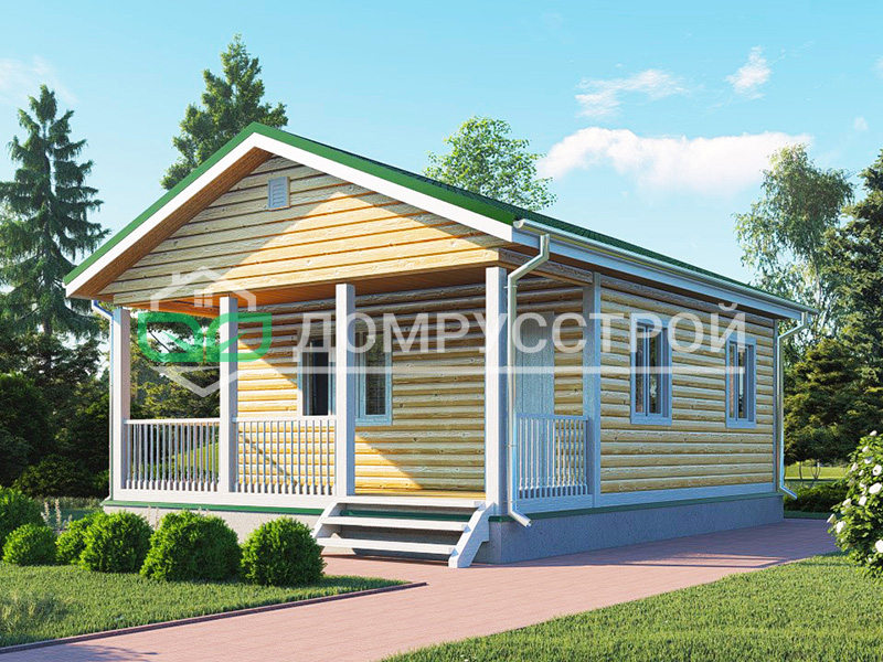 Каркасный дом Д120 6x8