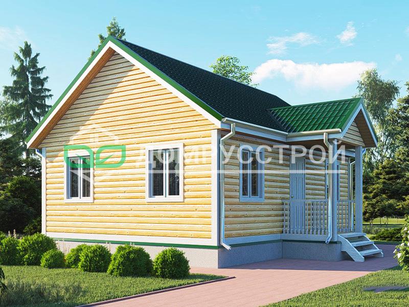 Дом из бруса Д121 6x8
