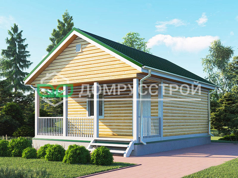 Каркасный дом Д122 6x8