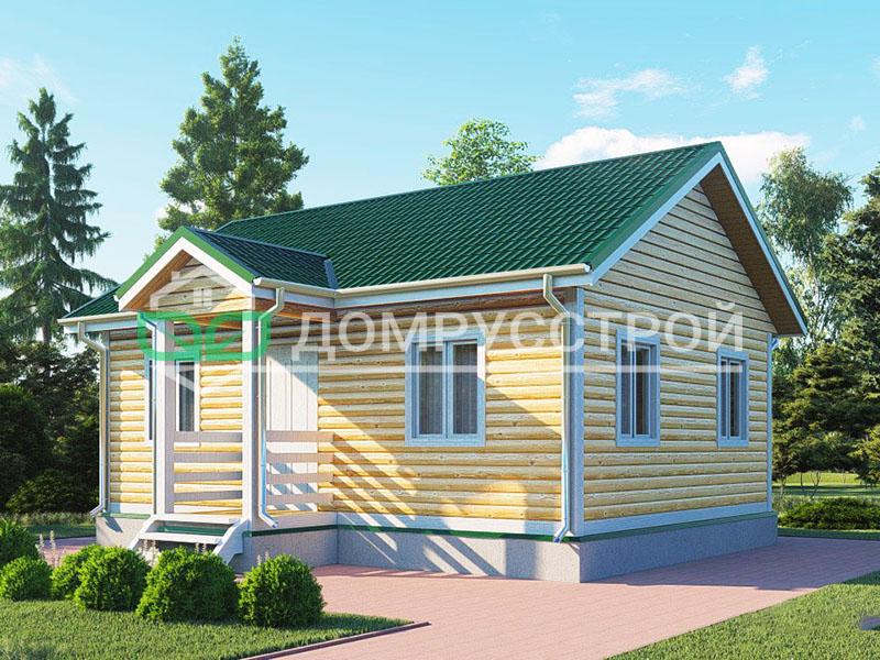 Дом из бруса Д123 8x6