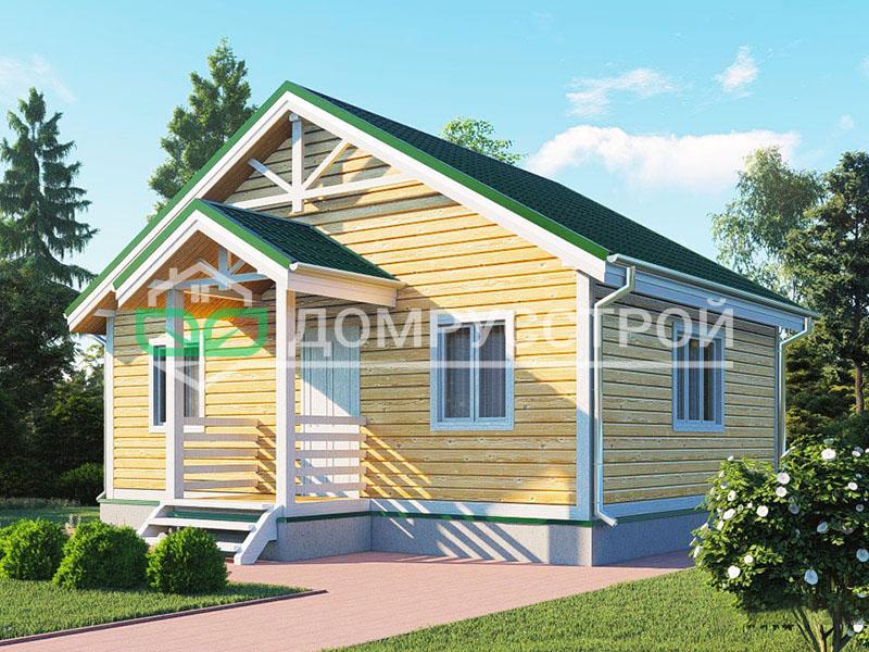 Дом из бруса Д124 8x6