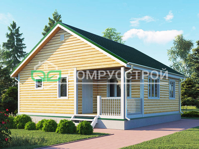 Каркасный дом Д127 8x8