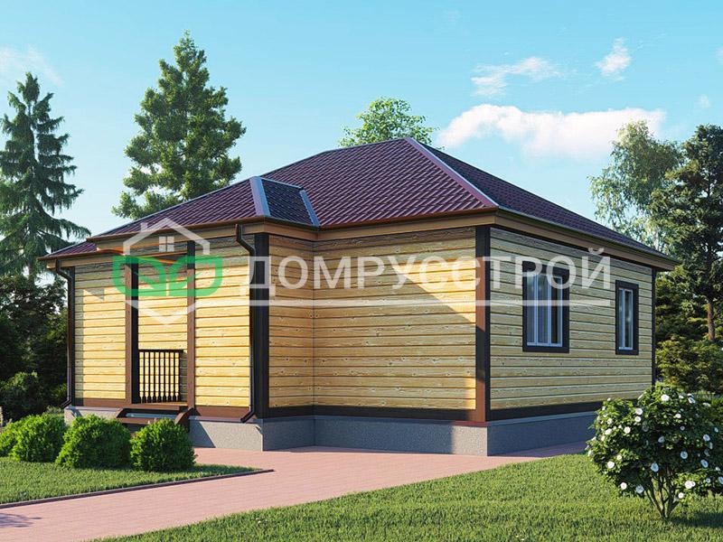 Дом из бруса Д128 9x8