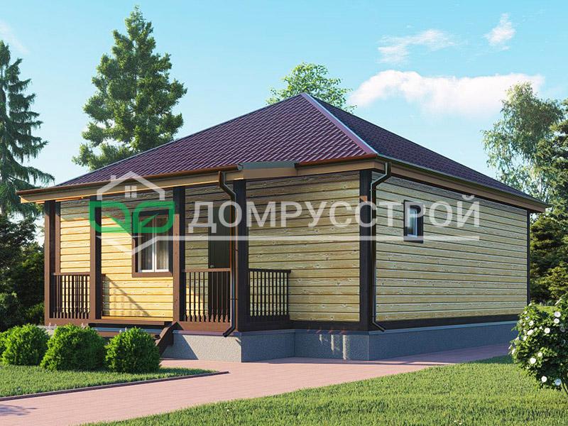 Каркасный дом Д129 8x8