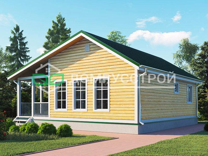 Каркасный дом Д131 9x9