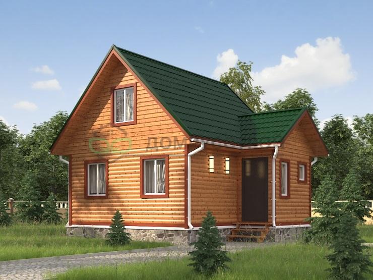 Дом из бруса Д3 7,5x6