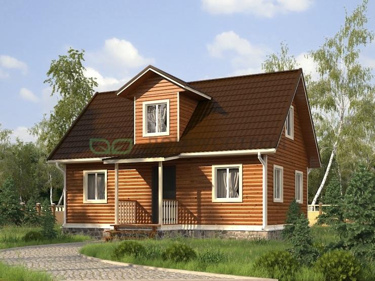 Дом из бруса Д1 9x7,5