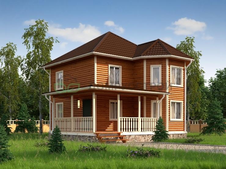 Дом из бруса Д18 9,5х9