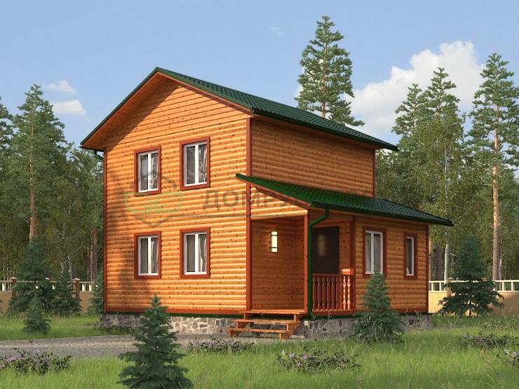 Каркасный дом Д21 8х6