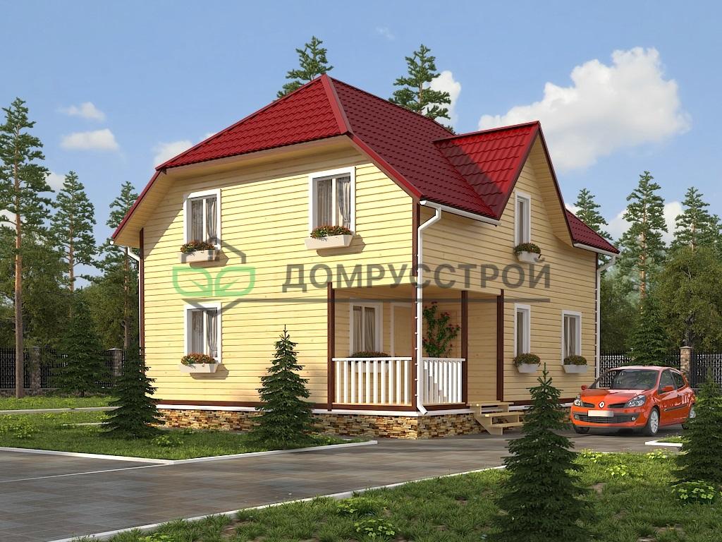 Каркасный дом Д39 8х9
