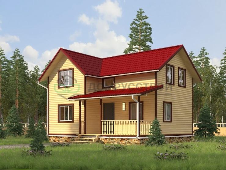 Каркасный дом Д12 9х7,5