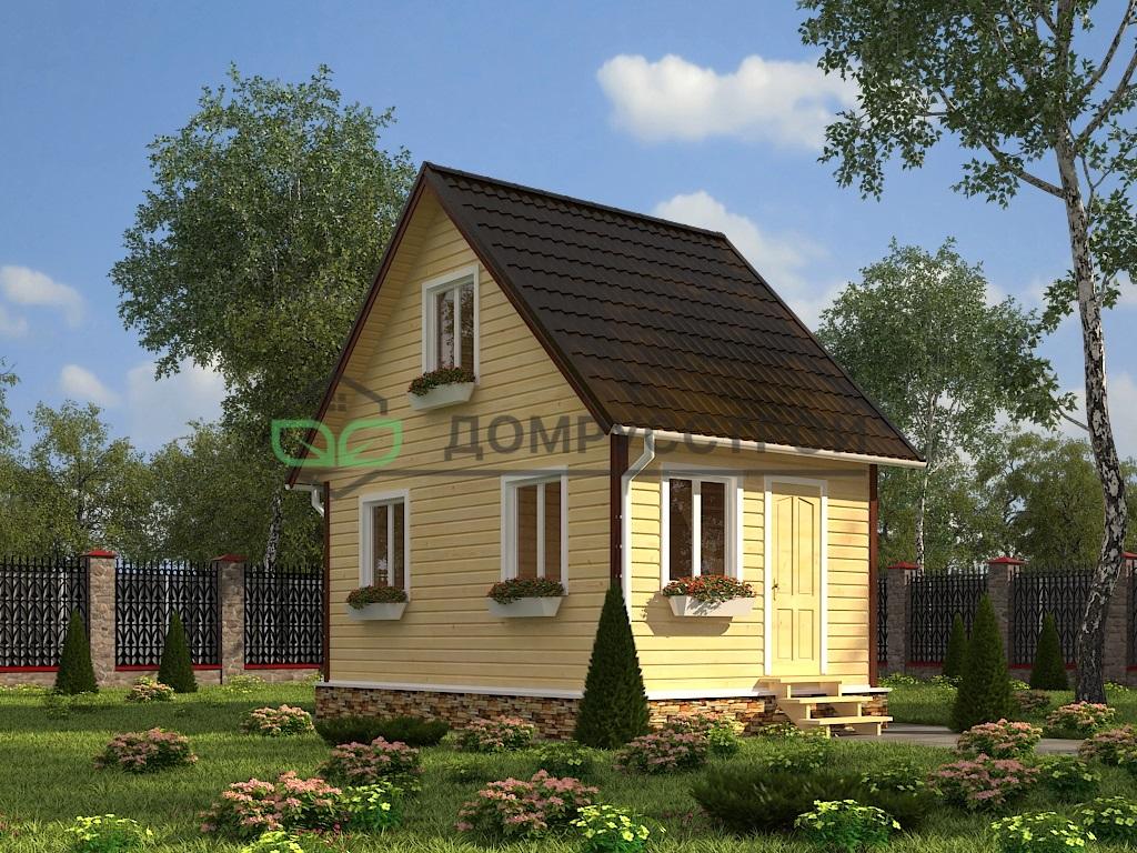 Дом из бруса Д4 6x4