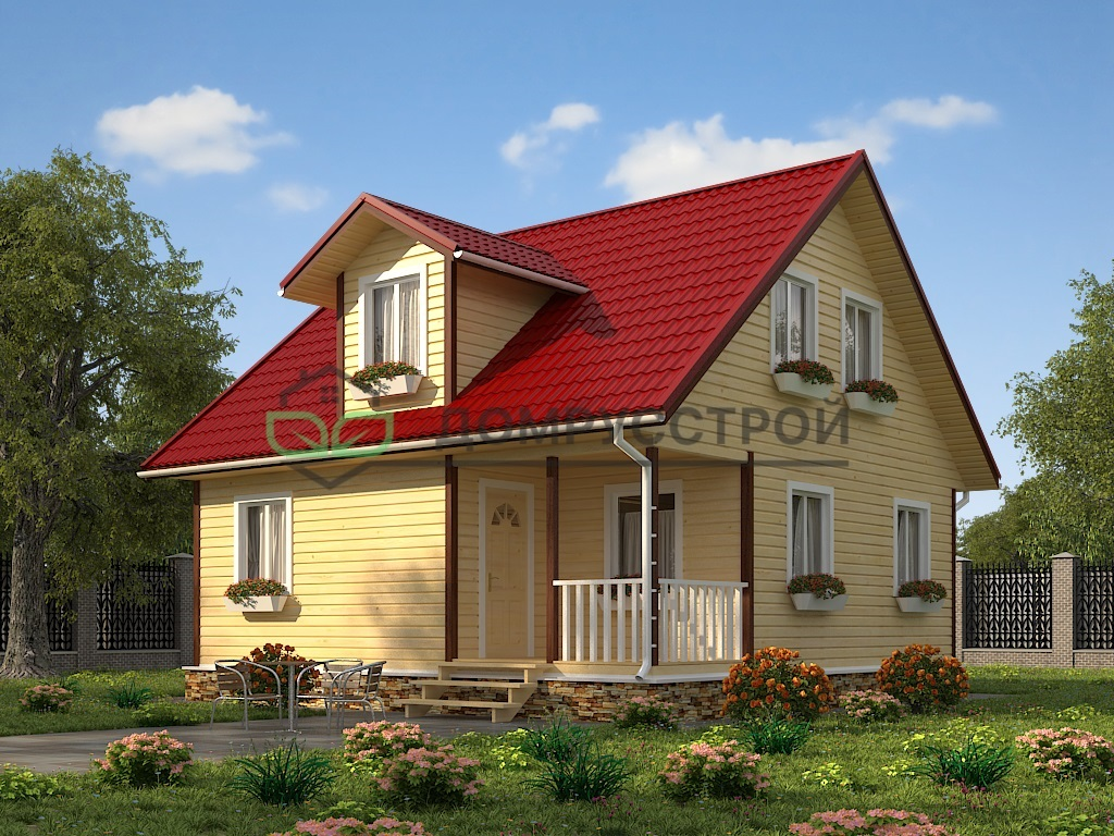 Каркасный дом Д29 8х8