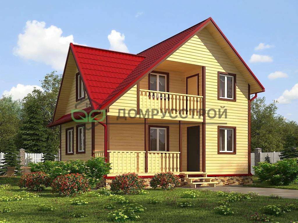 Каркасный дом Д47 6х8