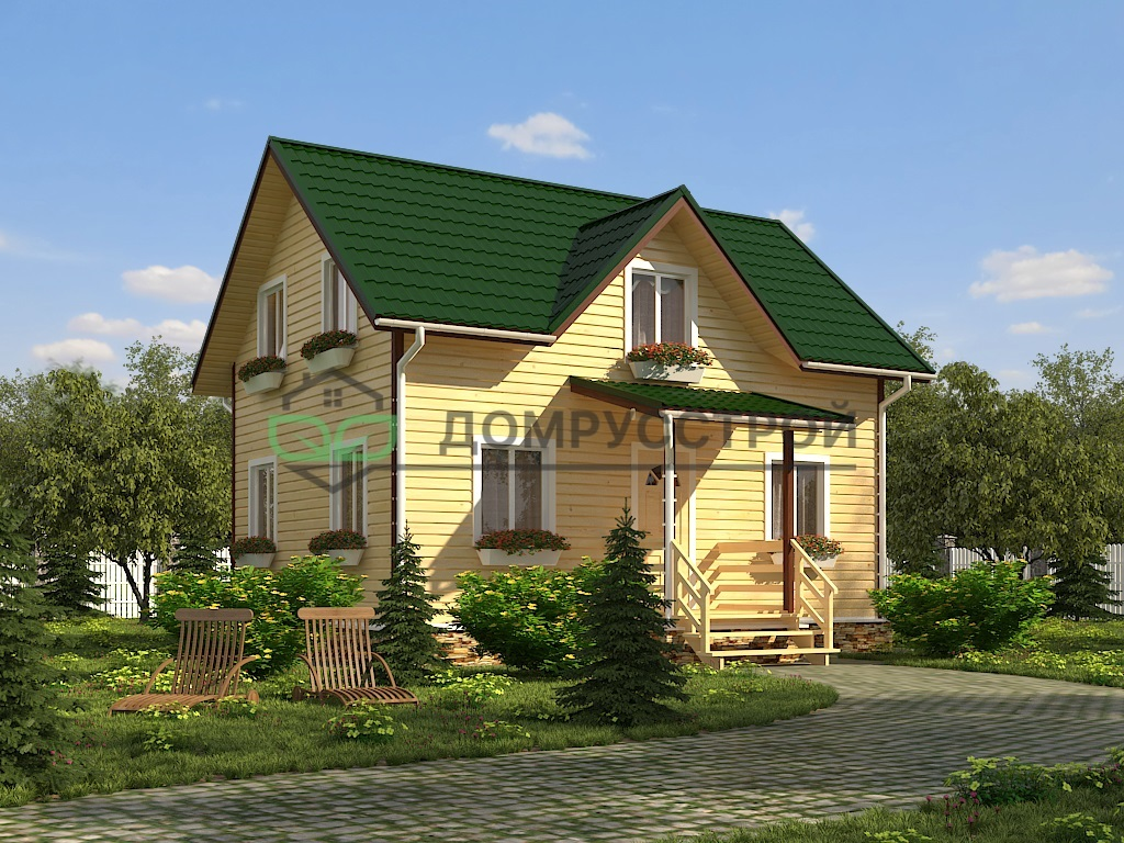 Дом из бруса Д31 7,5х8