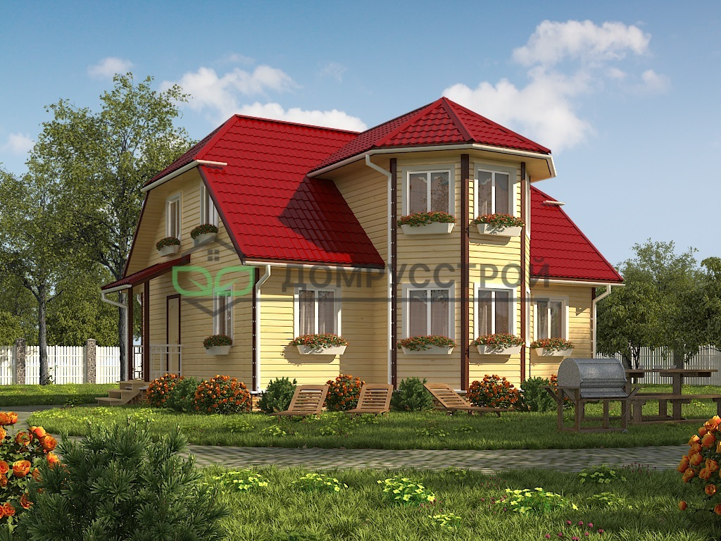 Каркасный дом Д37 9х10