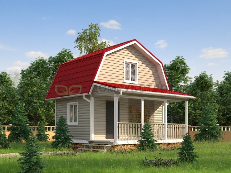 Дом из бруса Д9 6x6